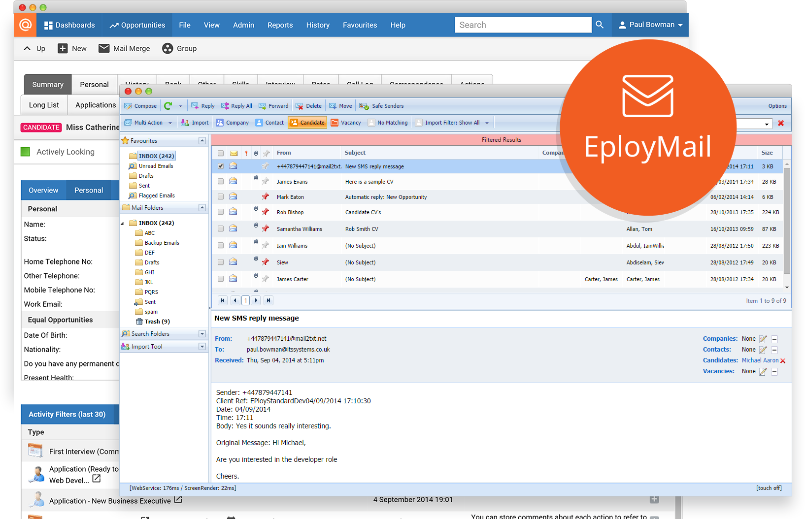 EployMail connecting to your inbox