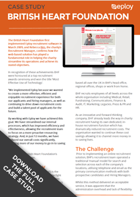 Click to download the full British Heart Foundation E-Recruitment Case Study