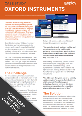 Click to download the dull Oxford Instruments E-Recruitment Case Study