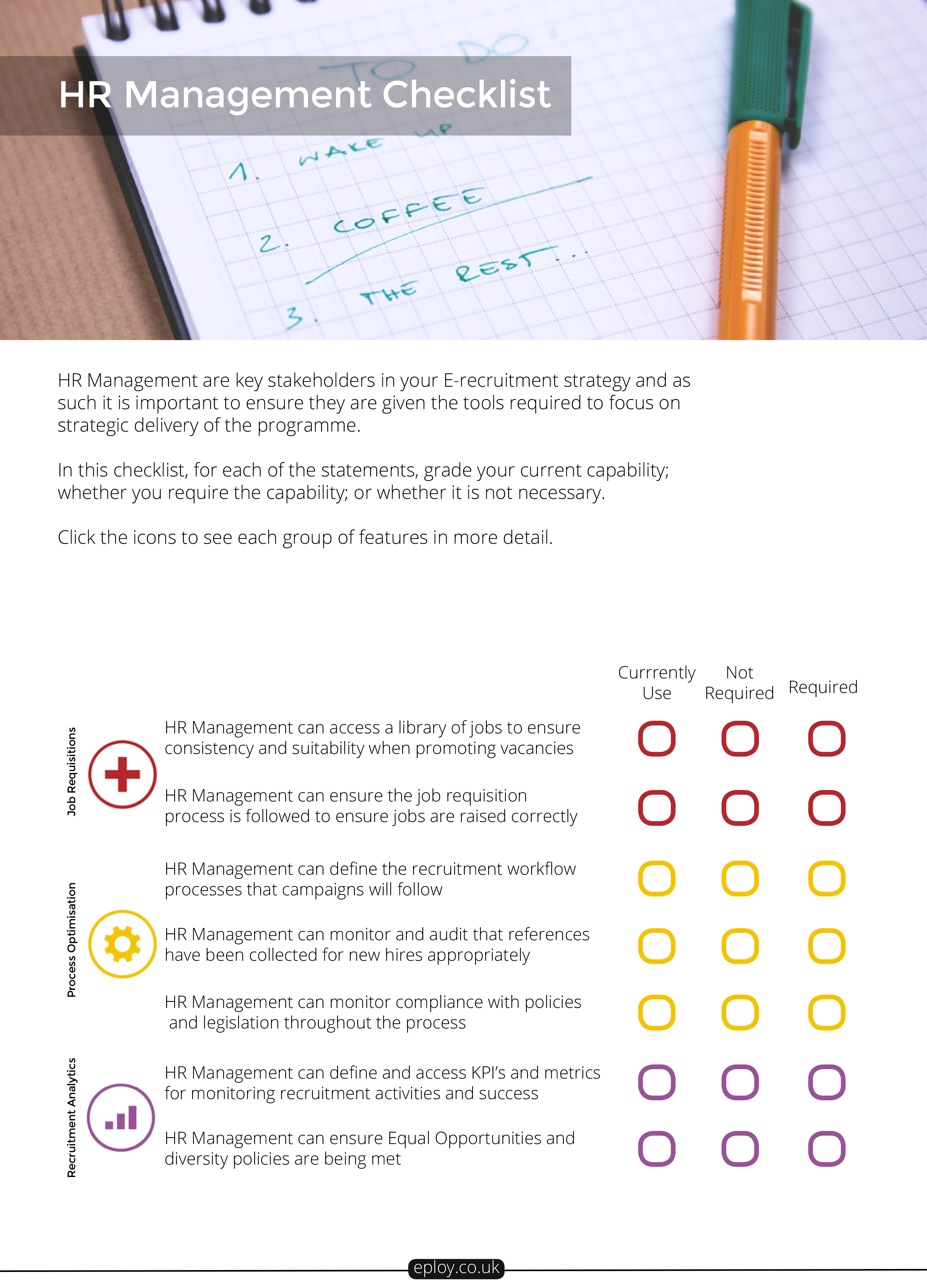 HR Managers' Recruitment Software Checklist | Eploy ATS